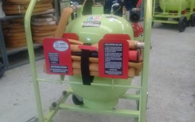 Fire extinguisher for harvesters